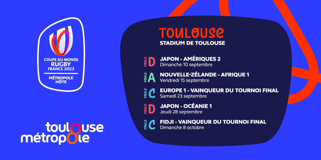 Calendrier Coupe Du Monde Rugby 2022 Toulouse site hôte de la Coupe du Monde de rugby 2023   Coupe du